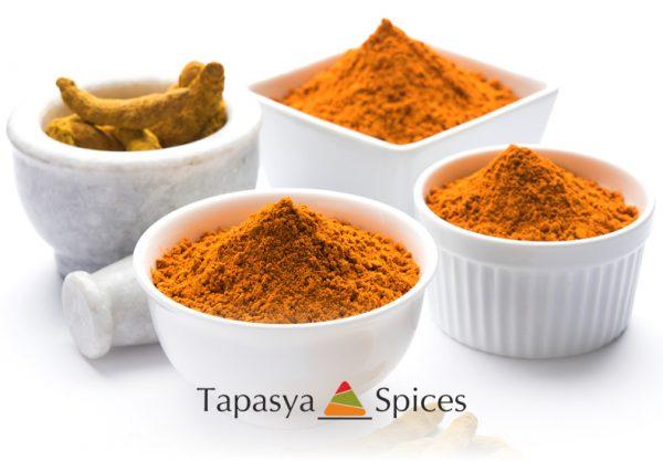 Haldi Powder Turmeric Powder in bowls